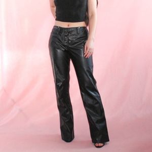 (265) VTG 1990s Grunge Leather Pants